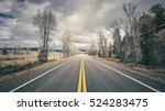 retro stylized scenic road ...   Shutterstock . vector #524283475