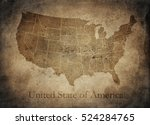 old usa map | Shutterstock . vector #524284765