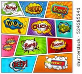 comic book page background... | Shutterstock . vector #524285341