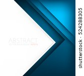 blue triangle vector background ... | Shutterstock .eps vector #524288305
