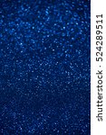 Blue Glitter Christmas Abstrac...