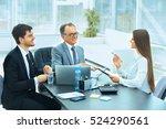 business partners to discuss...   Shutterstock . vector #524290561