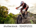 professional cyclist riding the ... | Shutterstock . vector #524291521