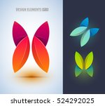 abstract butterfly logo design... | Shutterstock .eps vector #524292025