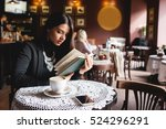 portrait of a beautiful girl... | Shutterstock . vector #524296291