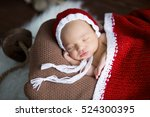 sweet newborn baby sleeping in... | Shutterstock . vector #524300395