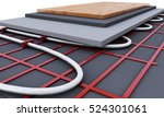 floor heating system. we see... | Shutterstock . vector #524301061