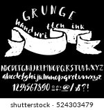 hand drawn font made by dry... | Shutterstock .eps vector #524303479