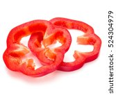 Red Sweet Bell Pepper Slices...