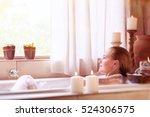 beautiful girl spending time in ...   Shutterstock . vector #524306575