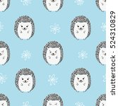 seamless pattern with cute...   Shutterstock .eps vector #524310829
