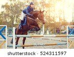 young rider girl at show... | Shutterstock . vector #524311597