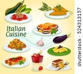 italian cuisine main and... | Shutterstock .eps vector #524313157