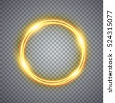 magic gold circle light effect. ... | Shutterstock .eps vector #524315077