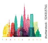 asia skyline detailed... | Shutterstock .eps vector #524315761