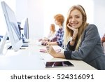 young female student feeling... | Shutterstock . vector #524316091