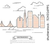 san francisco banner. city... | Shutterstock .eps vector #524316991
