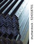 metal corners exactly stacked...   Shutterstock . vector #524318701