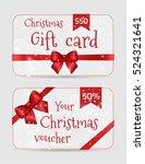 set of christmas ornamental... | Shutterstock .eps vector #524321641