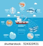 commercial fishing business... | Shutterstock .eps vector #524323921