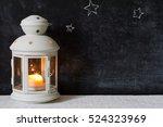 christmas lantern and stars on...   Shutterstock . vector #524323969