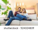 couple having watching... | Shutterstock . vector #524324839