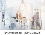 people in an open office with... | Shutterstock . vector #524325625