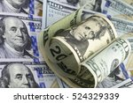 Twenty Us Dollar Bill Half...