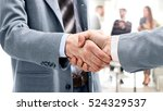 business people meeting around... | Shutterstock . vector #524329537