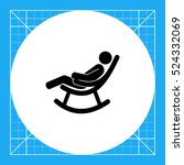 man in rocking chair icon | Shutterstock .eps vector #524332069