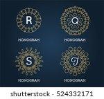 set of monogram design template....   Shutterstock .eps vector #524332171