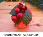 new year. vintage christmas... | Shutterstock . vector #524334085
