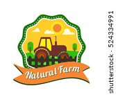 natural food production logotype | Shutterstock .eps vector #524334991