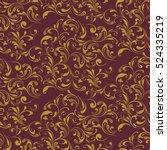 vintage seamless floral pattern.... | Shutterstock .eps vector #524335219