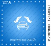 car insurance web icon. vector... | Shutterstock .eps vector #524335837