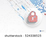 protection concept of digital... | Shutterstock .eps vector #524338525