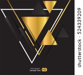 Abstract Gold Geometric Vector...