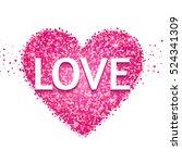 textured heart. valentine's day ... | Shutterstock .eps vector #524341309