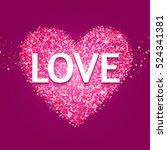 textured heart. valentine's day ... | Shutterstock .eps vector #524341381