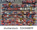 container container ship in... | Shutterstock . vector #524348899