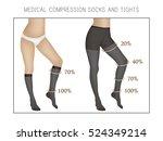 vector medical compression... | Shutterstock .eps vector #524349214