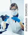 young scientist doing some... | Shutterstock . vector #524351821