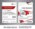 auto repair brochure templates  ... | Shutterstock .eps vector #524352679