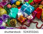 new year picture. gifts boxes ... | Shutterstock . vector #524353261
