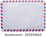 Small photo of vintage airmail envelope isolated on white background
