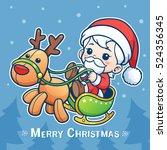 vector illustration of cartoon... | Shutterstock .eps vector #524356345