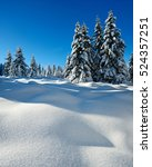 winter landscape  spruce tree... | Shutterstock . vector #524357251