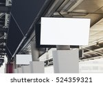 blank lcd screen display mock...   Shutterstock . vector #524359321