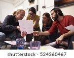 designers sitting on sofa... | Shutterstock . vector #524360467