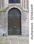 medieval door at a historic... | Shutterstock . vector #524361649